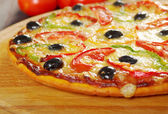 Home pizza m paprika — Stock Photo