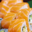 Roll made of salmon — Stock Photo #14221345