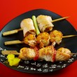 Japanese skewered seafoods Yakitori — Stock Photo #14577599