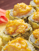 Japanische frittierten Tempura sushi — Stockfoto
