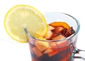 Orange cocktail closeup isolated — Stock Photo