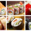 Food set Japanese Cuisine - Sushi Roll — Stock Photo #17174503