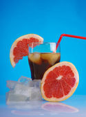 Tropical red cold cocktail — Stock Photo