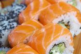 Rotolo di salmone — Foto Stock