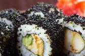 Japanese sushi black roe — Stock Photo