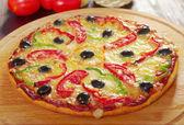 Pimentón m pizza casera — Foto de Stock