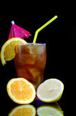 Tropical citrus cold cocktail — Stock Photo