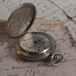 Stock Photo: Old-time watch closeup