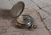 Old-time watch closeup — Stock Photo