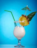 Pina Colada - Cocktail with Cream — Stock Photo