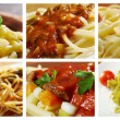 Food set of different italian pasta. — Stock Photo #20941271
