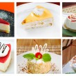 Food set of different sweet dessert — Stock Photo