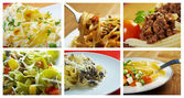 Food set of different italian pasta. — Stock Photo