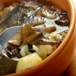 Home made mushroom soup - Stock Photo