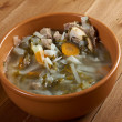 Russian national cabbage soup - Stock Photo