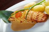 Salmon with potato . — Stock Photo
