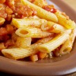 Italian Penne rigate pasta  — Stock Photo