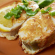Grilled t-bone codfish steak — Stock Photo #23158042