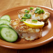 Grilled t-bone codfish steak — Stock Photo #23458482