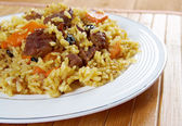 Traditionele oosterse pilaf — Stockfoto