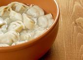 "Traditional Russian food ""pelmeni"". — Stock Photo"