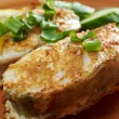 Grilled t-bone codfish steak — Stock Photo #23784203