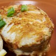 Grilled t-bone codfish steak — Stock Photo #24552749