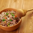 Russian Buckwheat porridge - Stock Photo