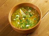 Russian soup rassolnik — Stock Photo