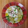 Ukha. Russianl fish soup. - Stock Photo