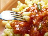 Italian pasta cavatappi — Stock Photo