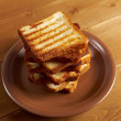 Pile  toasted bread — Stock Photo