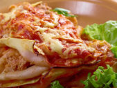 Italian homemade lasagna — Stock Photo