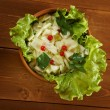 Farm-style salad of cabbage - Stock Photo