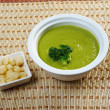 Stock Photo: Creamy soup with broccoli