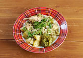 French stewed potatoes with chicken — Stock Photo