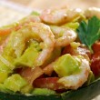 Avocado and Shrimps Salad — Stock Photo