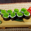 Tobiko (flying fish roe) Gunkan Maki Sushi — Stock Photo