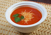Thick and hearty tomato soup — Stock Photo