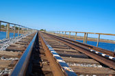 Rail road bridge — Stock Photo
