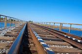 Tren yolu köprüsü — Stok fotoğraf