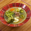 Italian  farm-style   soup with broccoli — Stock Photo