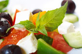 Greek salad with feta — Stock Photo