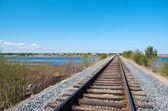 Railway to horizon — Stock Photo