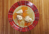 Chicken homemade soup — Stock Photo