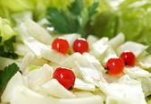Farm-style salad of cabbage — Stock Photo