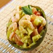 Avocado and Shrimps Salad — Stock Photo #26598203
