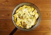 Farm-style Codfish with potatoes — Stock Photo