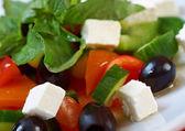 Salada grega com queijo feta — Foto Stock