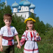 Russian Little boy and girl — Stock Photo #26910501